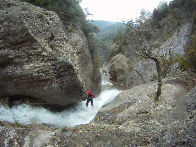 El Pas de l'Escalell, barranquismo Catalunya