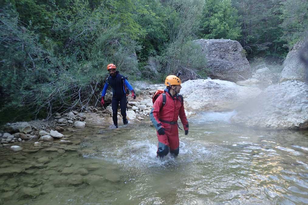 El primer centenar de metros dels Foscos d'Aiguadora