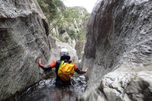 Pasillo acuático a la gouloutte del Mas Cal Sant